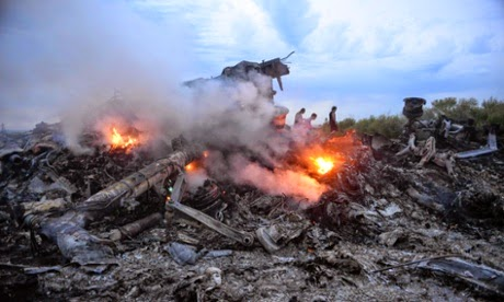 image of the site where the plane crashed
