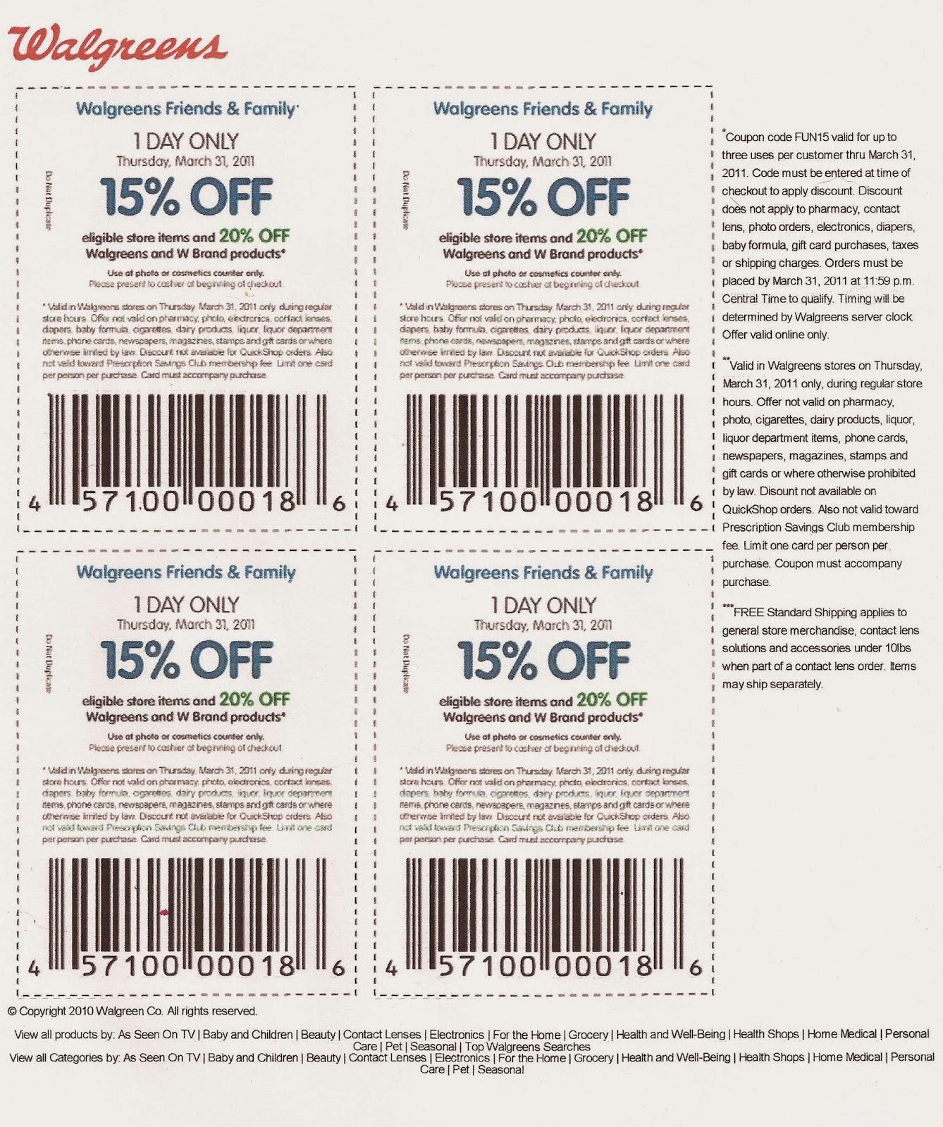 Walgreen discount coupons