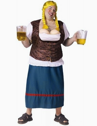 Men's German Beer Girl Halloween Costume