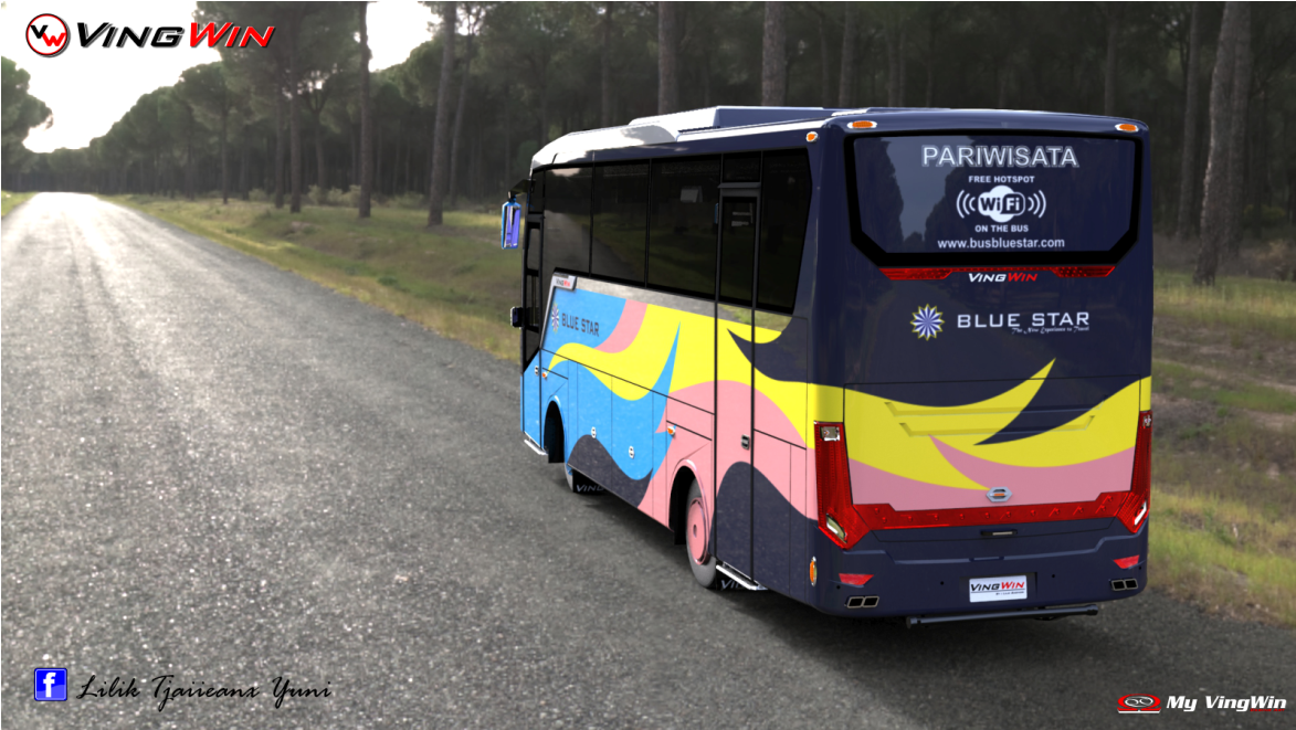 Design Bus VingWin PO Bluestar