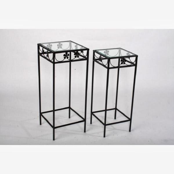 La forja muebles que no pasan de moda les burrades - Mesitas auxiliares de cristal ...