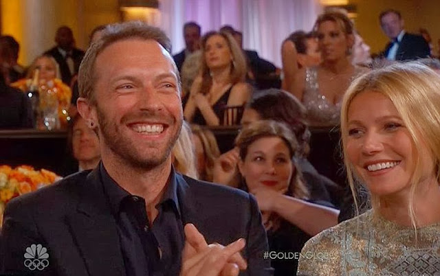 Chris Martin & Gwyneth Paltrow at the 2014 Golden Globe Awards