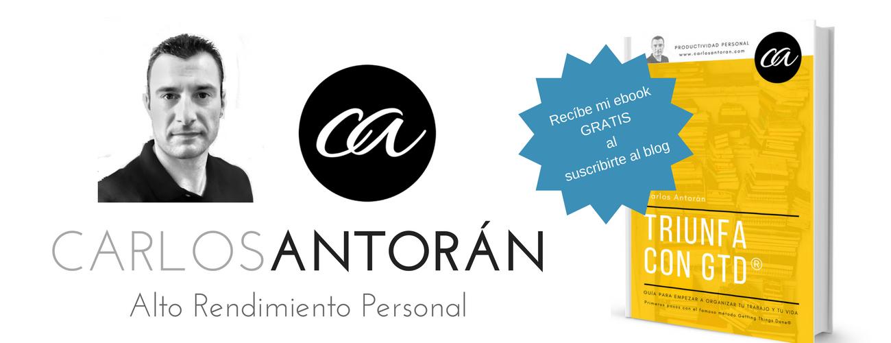 Carlos Antorán. Productividad personal y Alto rendimiento.