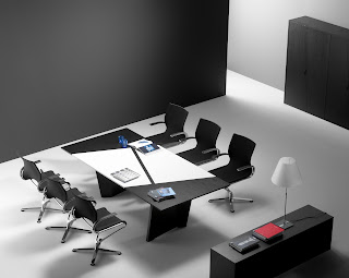 glass high gloss boardroom table