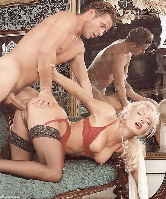 Pool with nude saxy girl