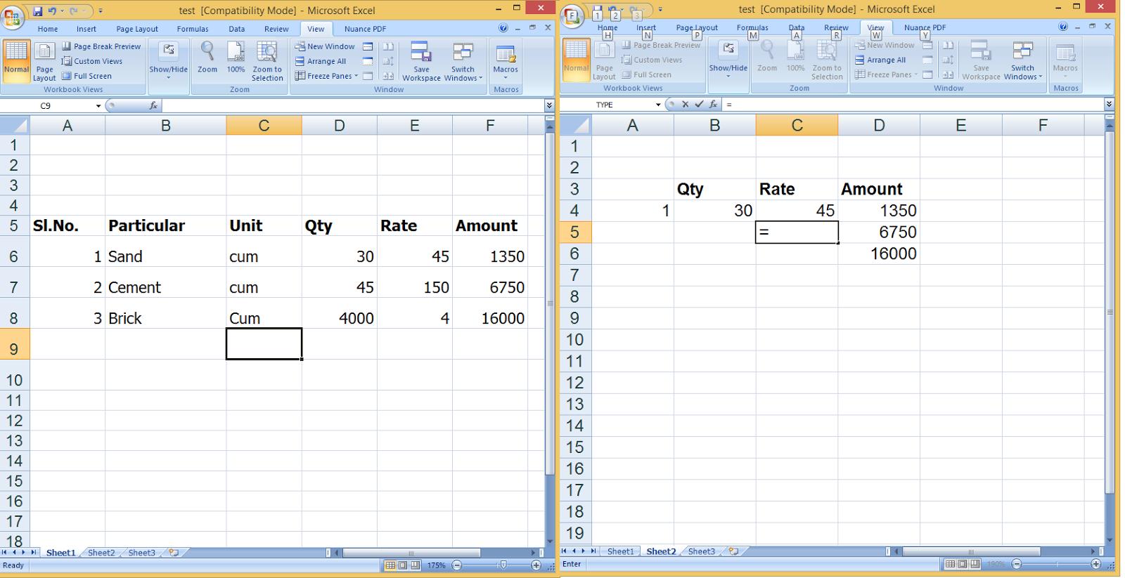 How to Link Formulas inbetween Worksheets in MS Excel