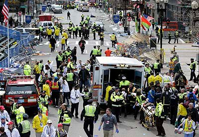 gambar video letupan boston marathon explosion