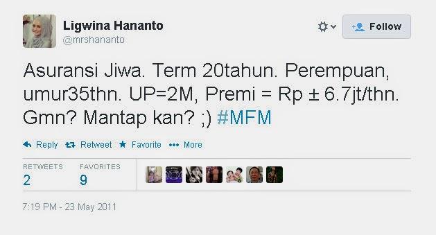 Apa kata Ligwina Hananto tentang Asuransi :