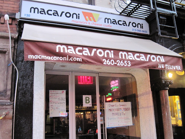 While those dining in New York can still find Macaroni Macaroni's macaroni at a few pizzerias, they will no longer find it at the Macaroni Macaroni store.