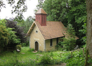 Small and quiet chapel in the German countryside.