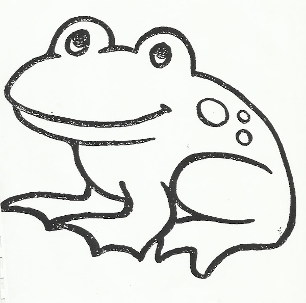 Frog In Pond Coloring Pages