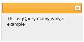 jquery dialog widget