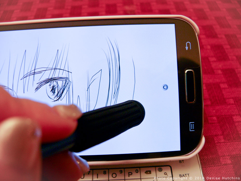 Showing the Buddy Stylus Creating a Mark