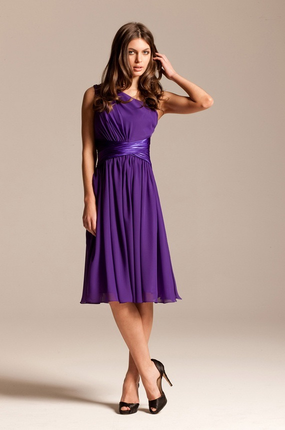 Purple bridesmaid dresses world of bridal for Purple wedding dresses for bridesmaids