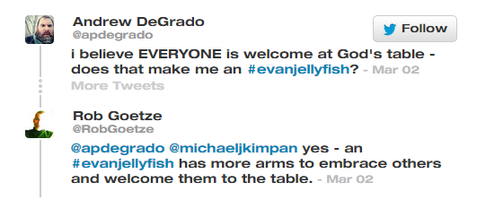 #evanjellyfish everyone welcome at the table apdegrado robgoetze more arms to embrace and welcome others