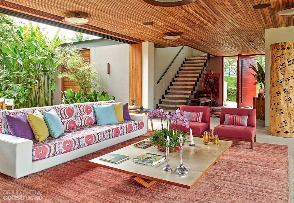 O desenho em l da planta criou uma generosa sala varanda for Blogs de decoracion moderna