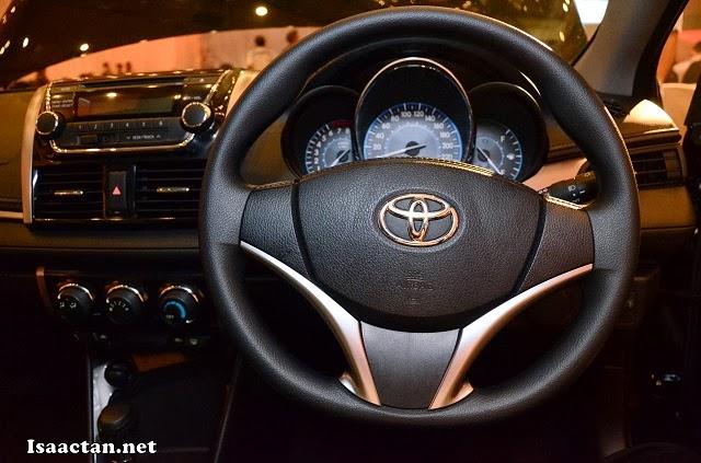 All New Toyota Vios' three spoke steering wheel