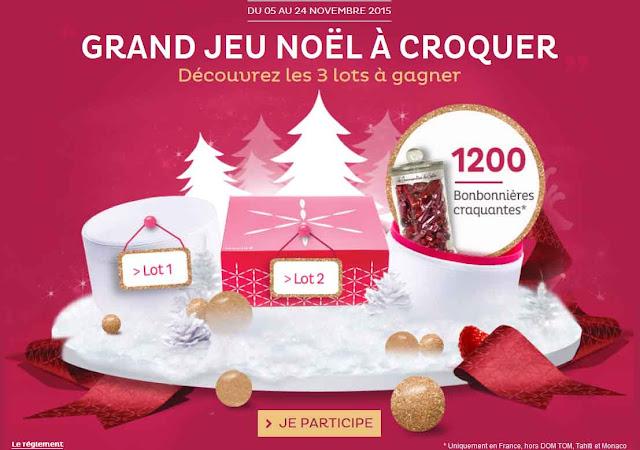 jeu concours Nocibé 1.200 bonbonnières à gagner !