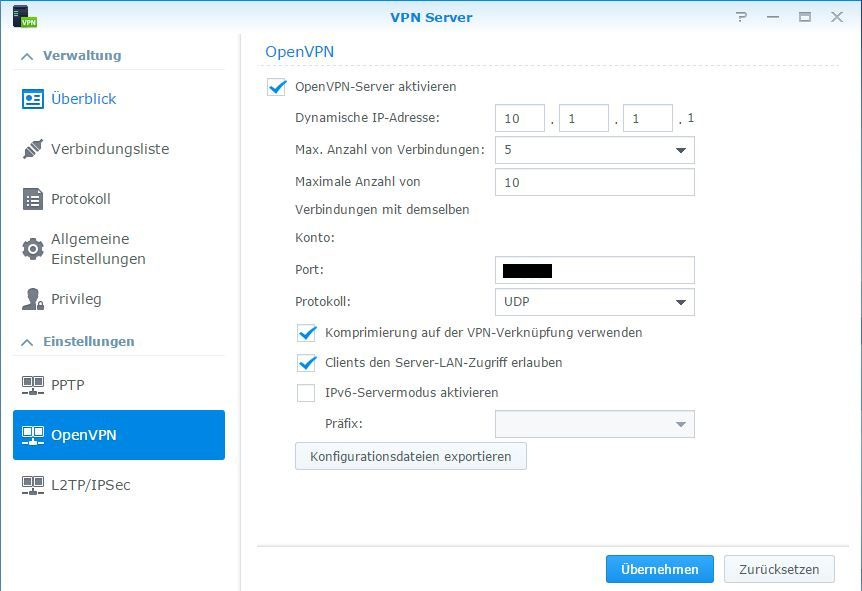 OpenVPN mit Synology | Private Technology and Features