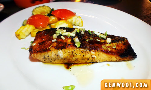 salmon maple glazed