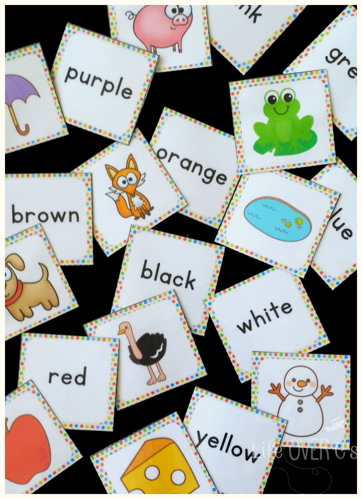 We have had so much fun talking about colors using these 4 free printable color recognition activities!