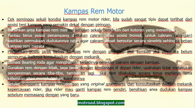 Info grafik Kampas Rem Motor -  Komponen yang Sering Terabaikan motroad.blogspot.com