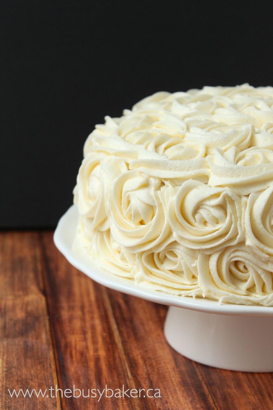Vanilla Bean Birthday Cake The Busy Baker