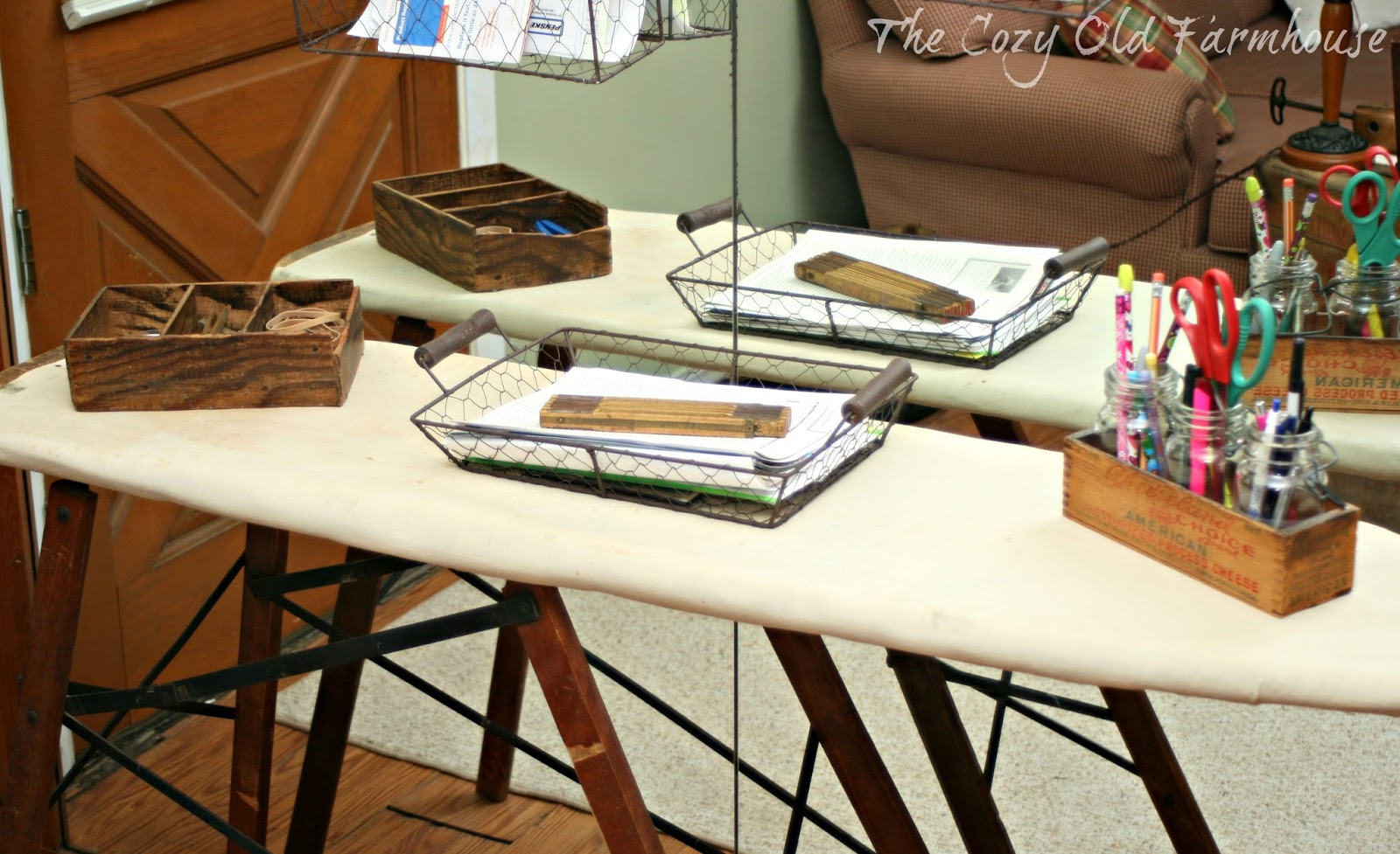 The Cozy Old Quot Farmhouse Quot Repurposed Ironing Board Quot Desk Quot