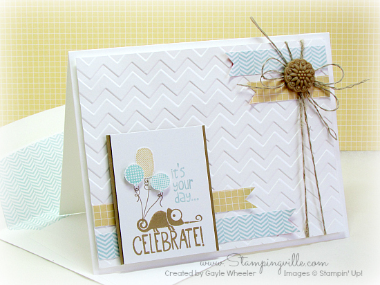 Clean and simple birthday/celebrate card. #cardmaking #rubberstamping #Stampinup #Stampingville