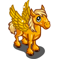 Golden Winged Pony Foal