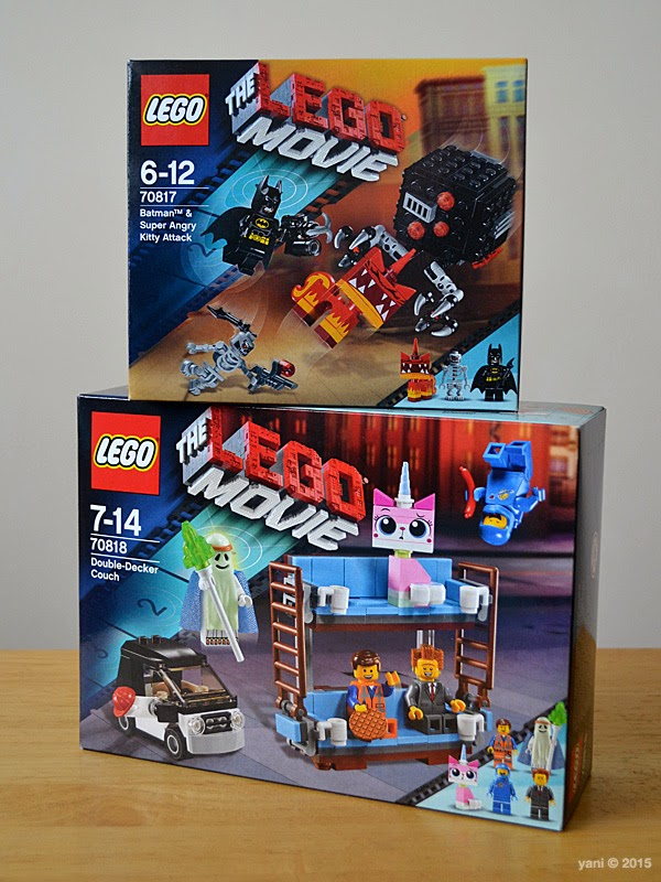 lego: batman and super angry kitty attack and double decker couch