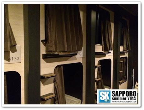 Sapporo Japan - Capsules @ Spa Hotel Sole Susukino