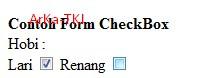 Contoh Form Type Checkbox di HTML