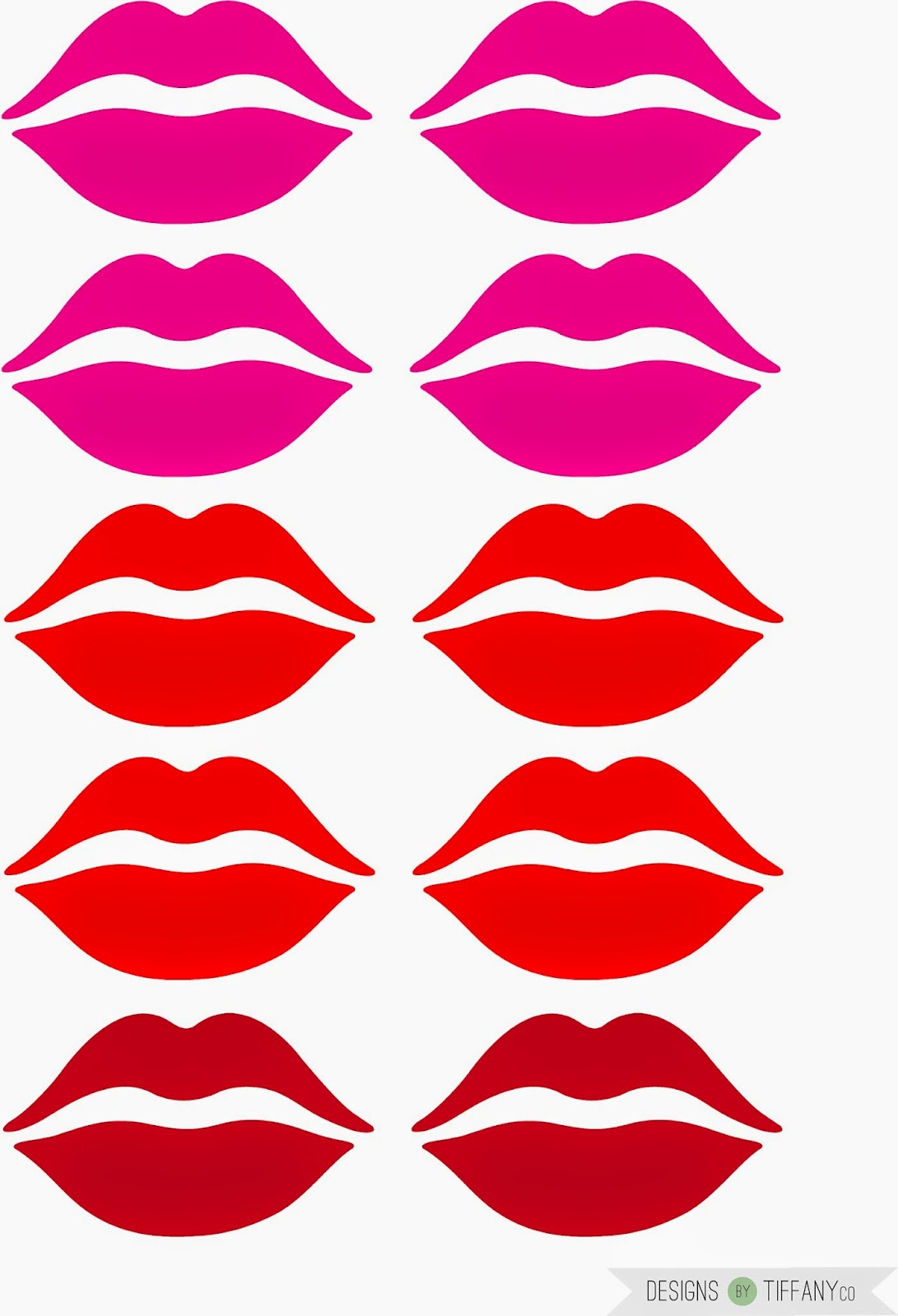 Free Coloring Pages Of Lips And Mustache