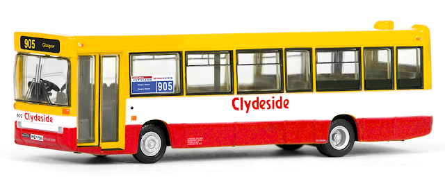 EFE 20650 - Plaxton Pointer Dart - Clydeside Another vehicle to be popular with our Scottish model collectors is this Clydeside Dart which will complement our previously released buses in the livery. Fleet number 402, registered M67 FDS is on route 905 to Glasgow Airport.  RRP £34.50