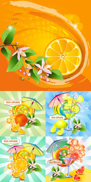 Summer Vectors - Natural and Fresh Juices