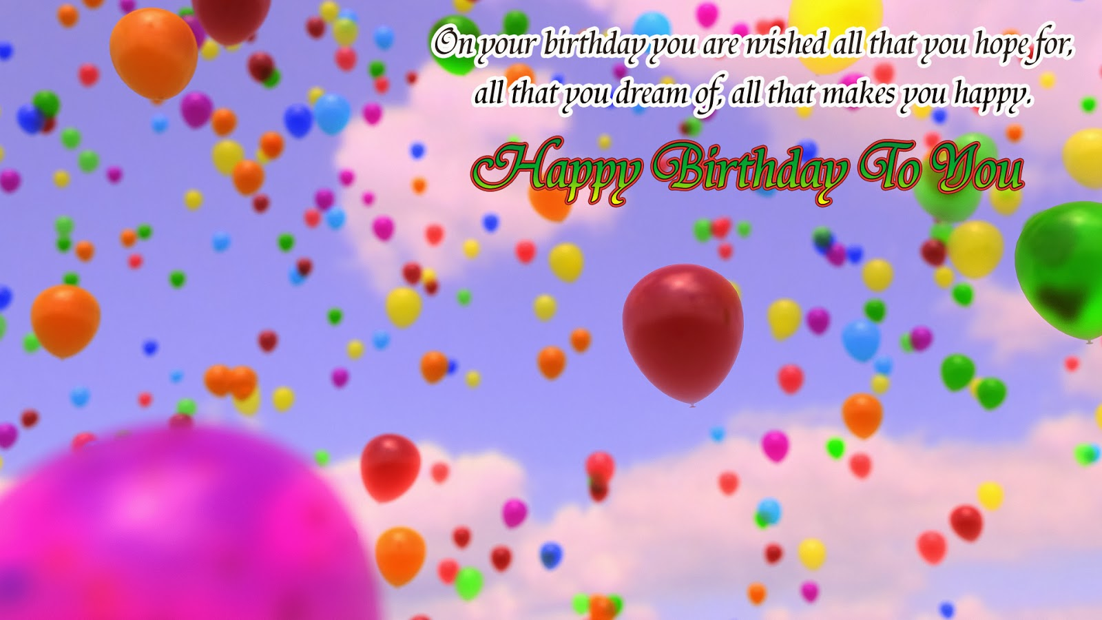 Happy Birthday Wishes Images Hd ~ Happy birthday wishes hd wallpapers