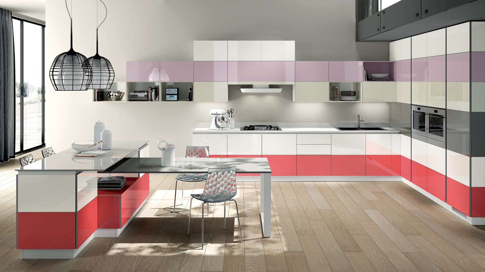 cocina multicolor