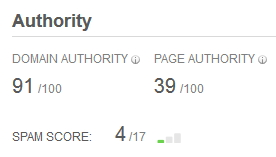 Doman Autority, Page Autority