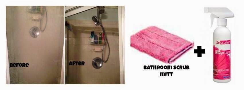 Norwex bathroom scrub mitt