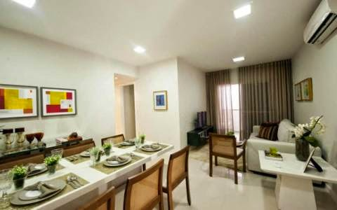 sala do apartamento do Cecilia Gantois Salvador