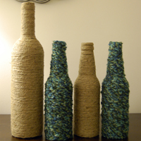 Wine and Beer Bottle Vases
