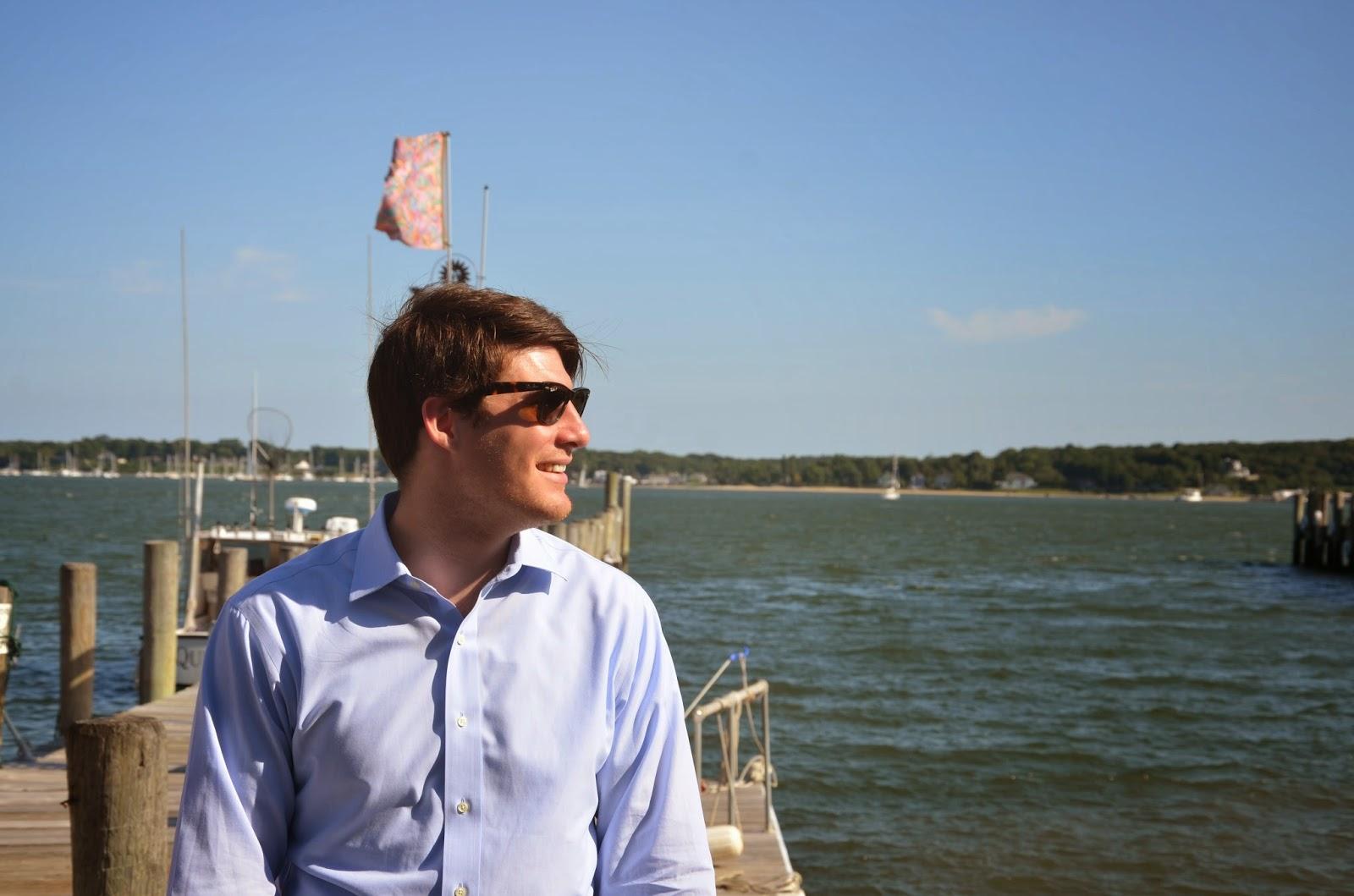 JD on the dock, Greenport Harbor, NY