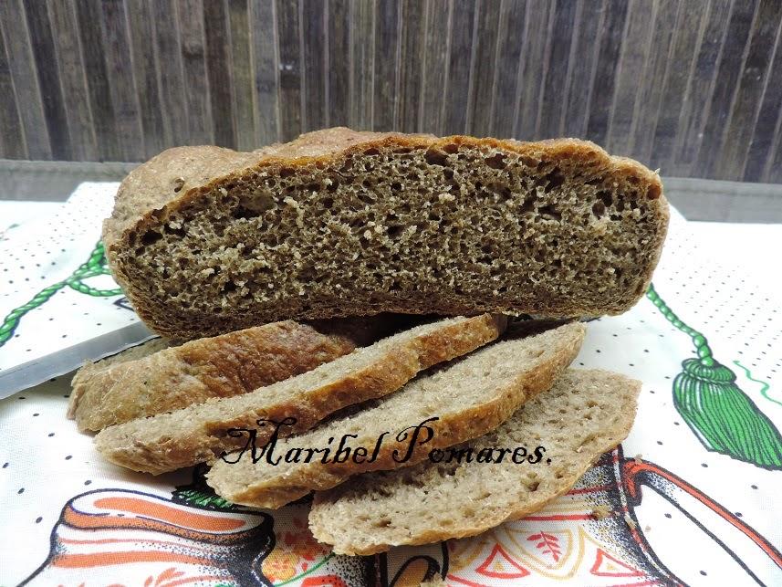 Cocinando con maribel pan de harina integral de trigo y - Harina integral de trigo ...