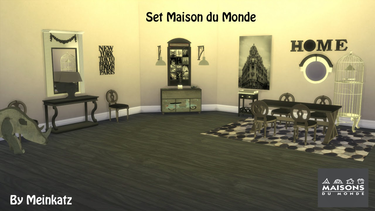 My sims 4 blog maison du monde by meinkatz for Maison du monde 2015