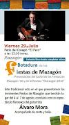 BOTADURA DE LAS FIESTAS DE MAZAGÓN