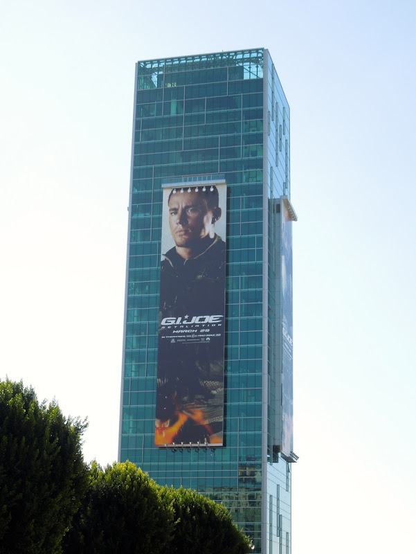 Giant GI Joe Retaliation Channing Tatum billboard