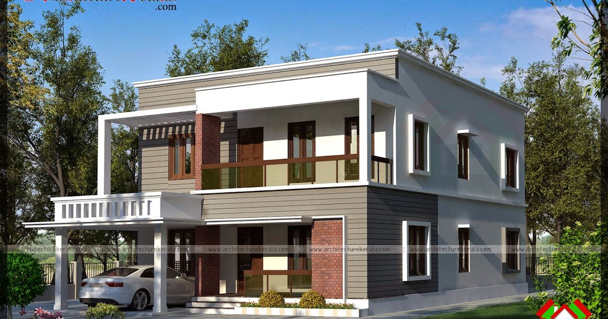 Simple contemporary style elevation architecture kerala for The space scape architects thrissur kerala