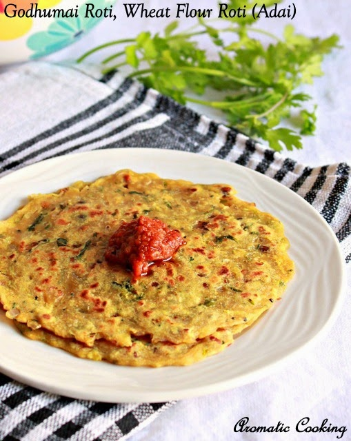 godhumai roti, wheat flour roti ( adai )