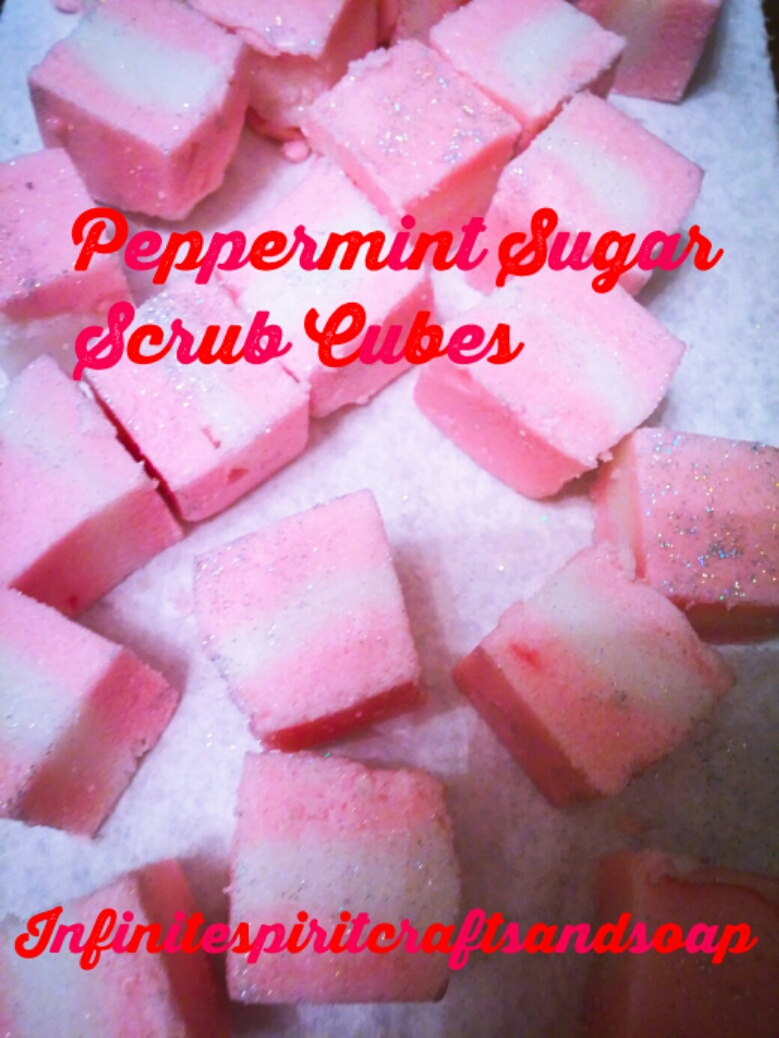 PEPPERMINT SUGAR SCRUB CUBES